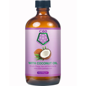 c60 purple power carbon 60 in coconut oil 8oz