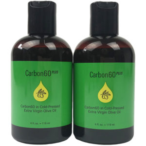 Carbon 60 plus carbon 60 in cold pressed extra virgin olive oil single 4oz bottle twinpack