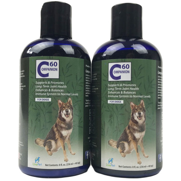 Companion60 C60 Carbon 60 for dogs and animals twinpack